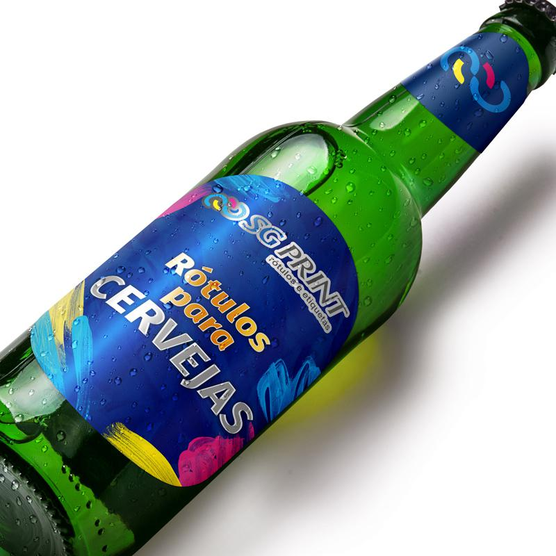 Adesivo rotulo de cerveja