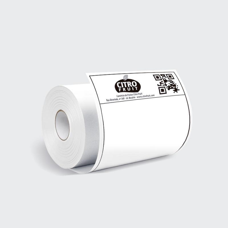 Etiqueta branca adesiva