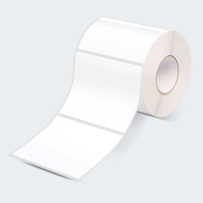 Etiqueta branca rolo