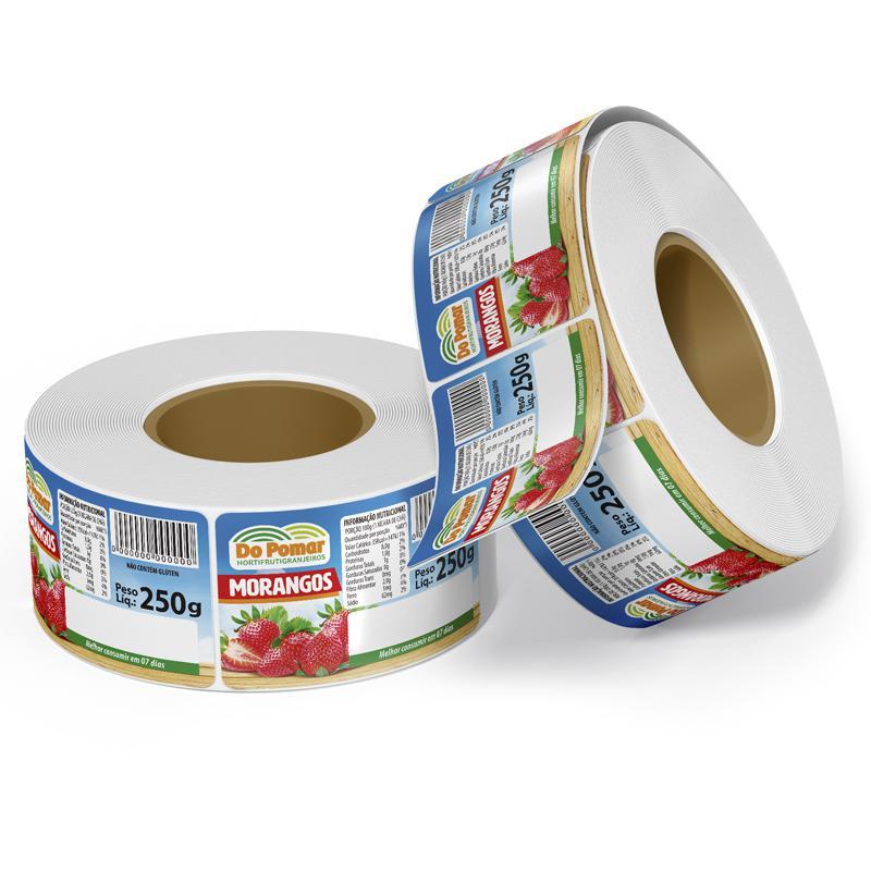 Etiquetas adesivas para alimentos