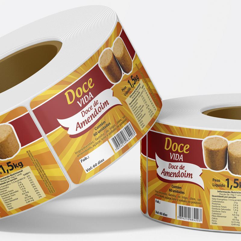 Etiquetas adesivas para doces