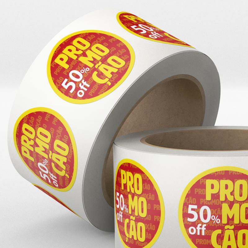 Etiquetas adesivas promoção