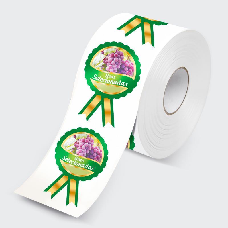 Etiquetas adesivas em rolo